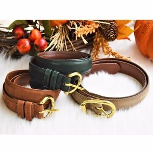 COACH Leather Belts Lot of 3 Tan Brown Green Large